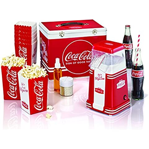 Simeo cc650Coca-Cola cafetera Pop Corn, con maletín rojo/blanco 1100W