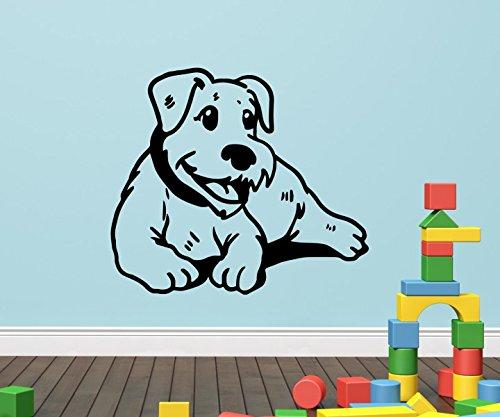 Wandtattoo Zwerg Schnauzer Miniature dog lustig Hund Hunde sticker Tier Tür Aufkleber Wohnzimmer Schlafzimmer 1B154