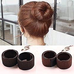French Bun Maker Women Girls Magic Hair Styling Donut Bun Maker Accessories (2 Pcs)