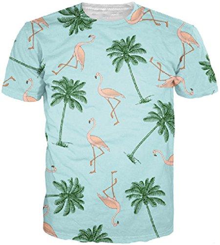 Men's 3D Green Tupac Printed Punk Rock Short Sleeve Tee Shirt top 7