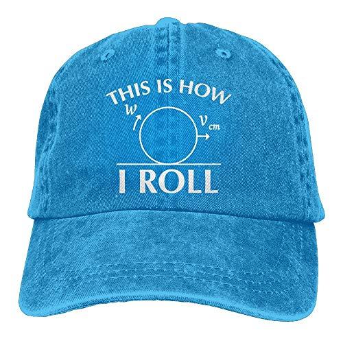 Dies ist, wie ich lustige Mathematik Wissenschaft Physik Neuheit sarkastisch Unisex Denim Stoff Baseball Cap Hut einstellbare Snapback Peak Cap Rollen
