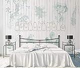 YUANLINGWEI Kreative Decor Anpassung Mural Einfache Moderne Pflanze Blatt Holzbrett Muster Wohnzimmer Tv Sofa Hintergrund Wandmalerei Tapete,210Cm (H) X 290Cm (W)