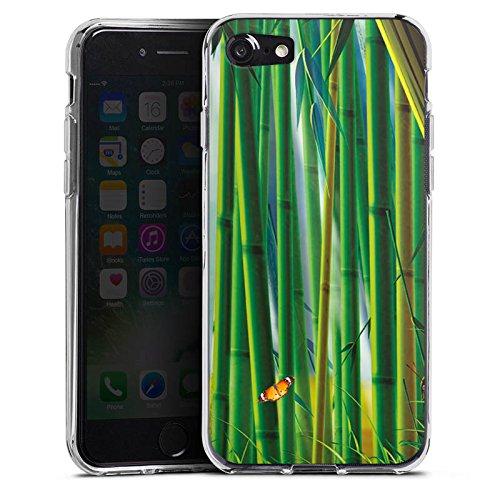 Apple iPhone X Silikon Hülle Case Schutzhülle Bambus Schmetterlinge Natur Silikon Case transparent