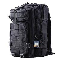 TTLIFE Military Tactical Rucksack Trekking Backpack 30L Waterproof Outdoor Sport Rucksack for Camping Hiking Traveling Trekking Mountaineering (Black)