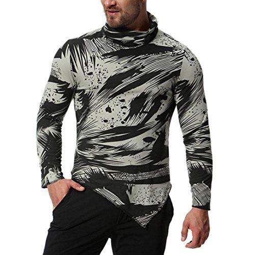 MEIbax Herren Basic T-Shirt Slim Fit Langarm Shirt Rundhals Oberteil Langarmshirt Oxford Formelle beiläufige Anzüge Hemden Bluse Top Sweatshirt
