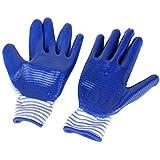 Generic Protective Gloves Bite-proof for Hamster Bite - Blue Zebra-stripe