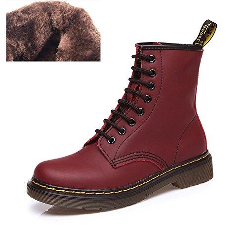uBeauty - Bottes Femme - Martin Bottes - Boots Flattie Sport - Chaussures Classiques - Bottines À Lacets Velours rose