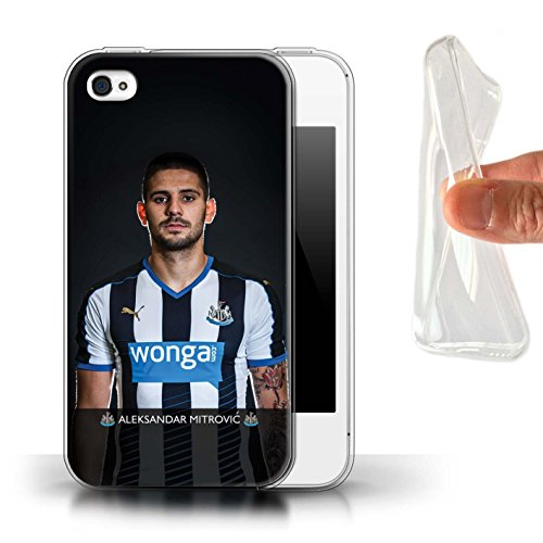 Offiziell Newcastle United FC Hülle / Gel TPU Case für Apple iPhone 4/4S / Pack 25pcs Muster / NUFC Fussballspieler 15/16 Kollektion Mitrovic