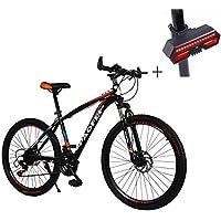 Bicicleta, Bicicleta De Montaña, 26 Pulgadas De 21 De Velocidad De Disco Doble Freno DeAcero alto en carbono De Alta Gama De Vehículos Todoterreno,Adecuado ...