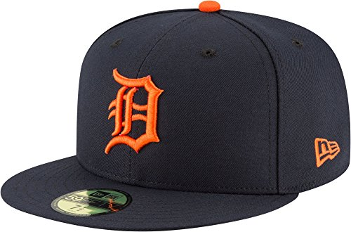 New Era Detroit Tigers Authentic On-Field 59FIFTY Fitted MLB Cap Road, 7 5/8 -