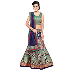 Styles closet Womens Silk Lehenga Choli(7101_Blue)