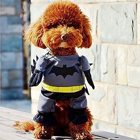 Vedem Mascotas Gato Perro Batman Traje Disfraces (XS)