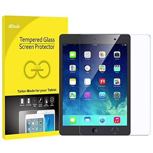 JETech 0338 Panzersglas für Apple iPad Air 1 / 2, iPad Pro 9,7, Das Neue iPad 9,7 (2017) Gehärtetem Glas Schutzfolie