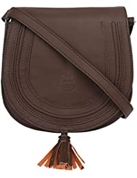 Hippo Women's Leather Sling Bag Brown(UP-KTP#02_BR)