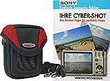 Progallio Foto-Tasche ADVENTURE X-TREME POCKET schwarz-rot plus Fotobuch IHRE CYBERSHOT für Sony