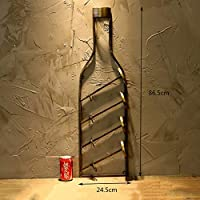 European Style Wall Hanging Wine Rack, Wine Rack, Bar Restaurant Wrought Iron Retro Style Wall Decoration Wine Rack, MTX Ltd