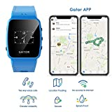Techsixtyfour - Gator Kids and Seniors Splashproof Smartwatch - GPS and Wi-Fi Tracking - Two-way phone calls Smartwatch with Sim - Wrist Watch for Boys and Girls - UK Sim Only - Blue