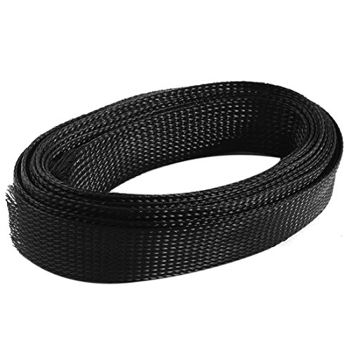 sourcingmapr-nylon-expandable-braided-sleeving-wiring-wrap-46m-30mm-width-black
