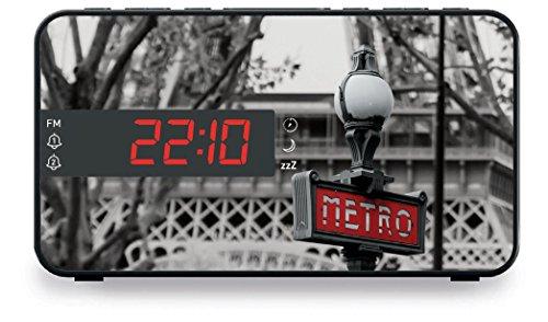 BigBen Interactive RR15TB2Radio-réveil avec illustration de cabine téléphonique anglaise