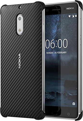 Nokia 1A21M9800VA Carbonfaser Design Hülle CC-802 6 Onyx Schwarz