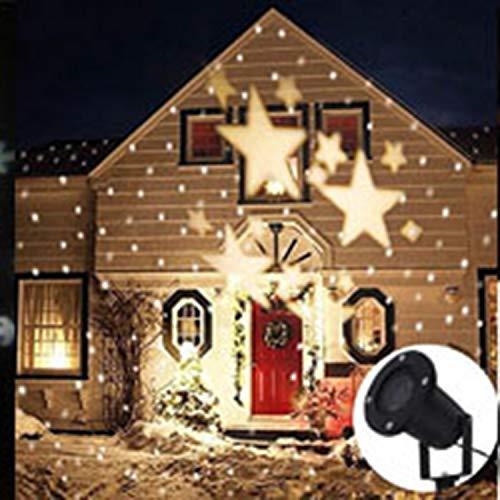 rme Weiße Stern-Projektions-Lampen-Yard-Garten-dekoratives Lichteffekt-Licht-kleines Stadiums-Licht ()