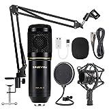 ZINGYOU Microphone à condensateur, kit de microphone d'enregistrement professionnel BM-800 avec bras à ciseaux,...