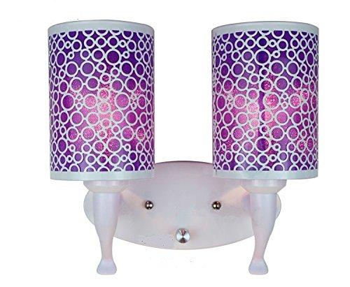 YUSHI Lámpara de Pared LED Espejo Lámpara de cabecera Rines de la...