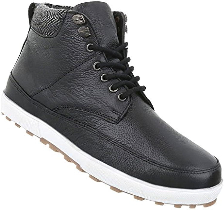 Herren Schuhe Boots Leder Schnürer StiefelettenHerren Schuhe Schnürer Stiefeletten Schwarz Billig und erschwinglich Im Verkauf