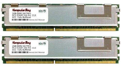 256 Mb Ecc-kit (Komputerbay 4GB (2x2GB) DDR2 PC2-5300 240-pin 667MHz FBDIMM CL5 ECC Fully Buffered REGISTERED 256Meg 1,8 x 72 Speicher-Kit)