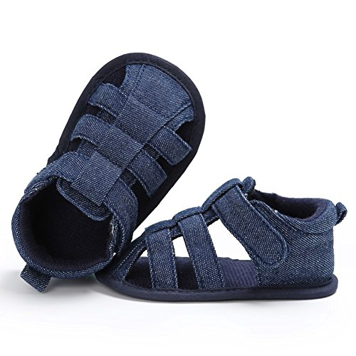 Miyasudy Jungen Sandalen 2 Klettverschluss Schuhe Baby Blau Monate Wanderer Canvas Outdoor 0 Kinder Sommer 18 Erste HEqrH