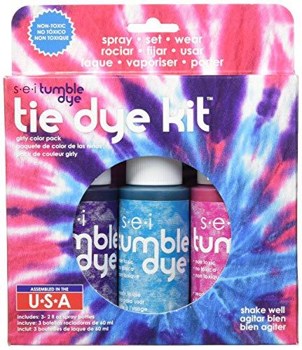 Unbekannt Sei Tumble Dye Handwerk und Stoff batikähnliche Färbetechnik Set, 480 ml, 3kg, mädchenhaft