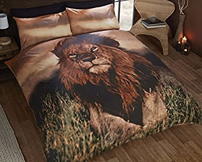 Urban Unique Lion King Size Duvet Cover Bed Set Bedding Quilt Cover Animal Photographic Print