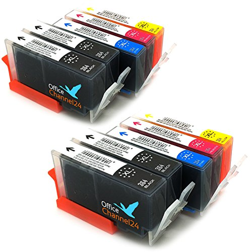 10 OfficeChannel24 Druckerpatronen kompatibel zu HP 364 / HP 364 XL mit Chip für PhotoSmart 5520 e-All-in-One 5522 5524 5525 DESKJET 3070A 3520 3522 OFFICEJET 4620 4622 HP Photosmart 5510 5514 5515 6510 6520 7510 7520 e-All-in-One -