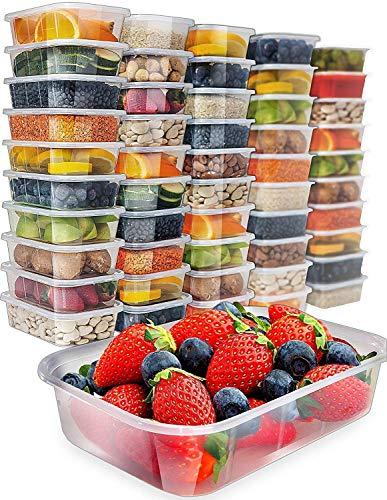 Prep Naturals: Frischhaltedosen mit Deckel aus Kunststoff, 480 g, 50 Stück