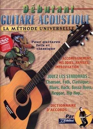 Débutant Guitare Acoustique Rebillard CD et DVD par Jean-Jacques Rébillard