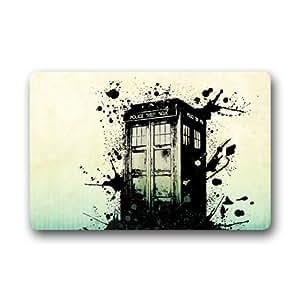 Doctor Who Tardis Tapis de porte personnalisée pour extérieur antidérapant lavable en machine intérieur Paillasson 59,9x 39,9cm
