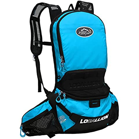 West ciclismo 30L deportes al aire libre mochila impermeable ligero mochila ciclismo mochilas hombro bolsa de cinturón para correr equitación senderismo camping Climbling, hombre mujer, azul