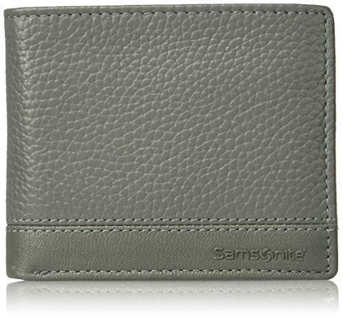 Samsonite Herren Serene Billfold Falt-Brieftasche, grau, Standard -