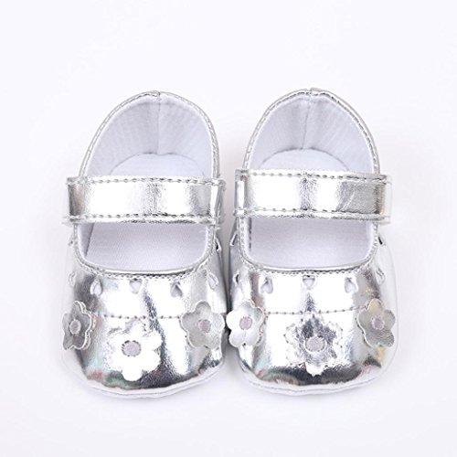 Baby Schuhe, Switchali Neugeborene Anti-Rutsch Kleinkind Prewalker für 0-12 Monat Silber