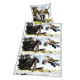 Herding Dragons Bettwäsche-Set, Baumwolle, Mehrfarbig, 135 x 200 cm