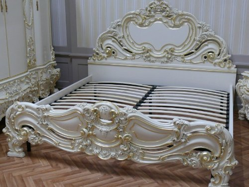 LouisXV Barock Bett bed litto Venetia Rokoko Vp7731K antik Stil Massivholz. Replizierte...