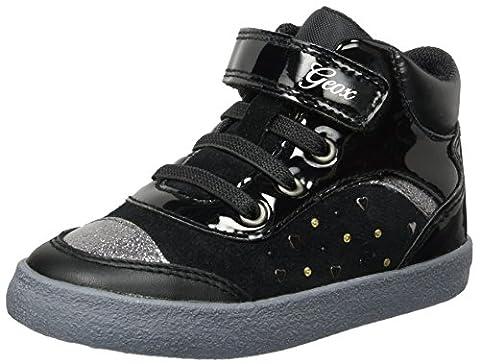 Geox B Kiwi A, Sneakers Basses Bébé Fille, Noir (Black),