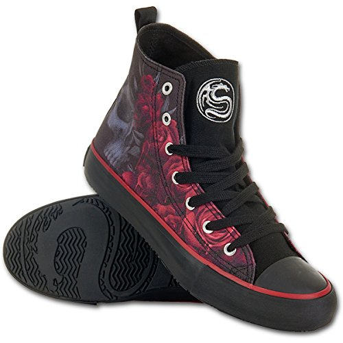 Spiral – Women – BLOOD ROSE – Sneakers – Ladies High Top Laceup (41 EU / 8 UK)