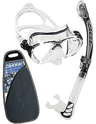Cressi Big Eyes Evolution & Kappa Ultra Dry Schnorchel - Pack de snorkel (tubo y gafas), color negro