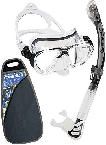 Cressi Big Eyes Evo & Kappa Ultra Dry Combo Set per Snorkelling, Trasparente/Nero [Prodotto in Italia]