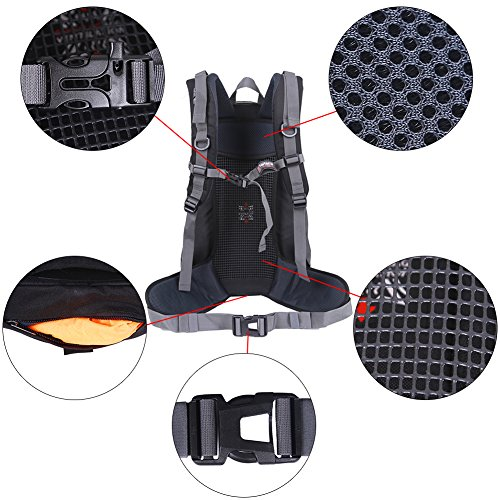 EGOGO Wasserdichten Rucksack Radfahren Wanderrucksack Urlaub Rucksack Gepäcktasche mit Regen Abdeckung S9018 Grün