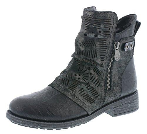 Remonte Damen Biker Boots D8073,Frauen Stiefel,Stiefelette,Halbstiefel,Bikerstiefelette,Bootie,flach,Blockabsatz 3.5cm,schwarz/Antracite/schwarz/schwarz / 02, EU 38