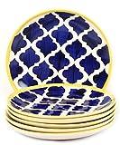 VarEesha Hand Crafted Blue Ceramic Quart...