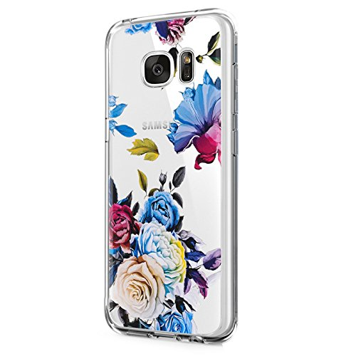 Funda Samsung Galaxy S6 Transparente Gel Silicona TPU S6 Edge Protectora Perros Carcasa Ultra Delgado Anti-Arañazos Flores Patrones Case Para Galaxy S6 Edge Plus Caso (Galaxy S6 Edge Plus, Piña 06)