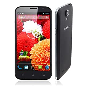 N9776 - 6 inch MTK6577 Android 4.1.1 JELLY BEAN - Capacitive multouch screen 1GHz Dual Core CPU - 3G Smartphone Dual Sim Two Camera WIFI GPS New Google Play Store Flash Player Supported, with free flip case and screen protector - White